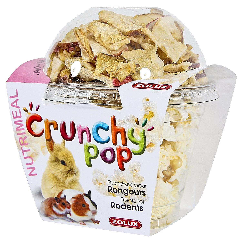 Friandises pour rongeurs CRUNCHY POP POMME 33G Pop corn et pomme. Zolux