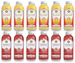 LUV BOX-Variety GT's KOMBUCHA Synergy Kombucha Pack,16 fl oz,12 pk,Pink Lady Apple , Strawberry Serenity