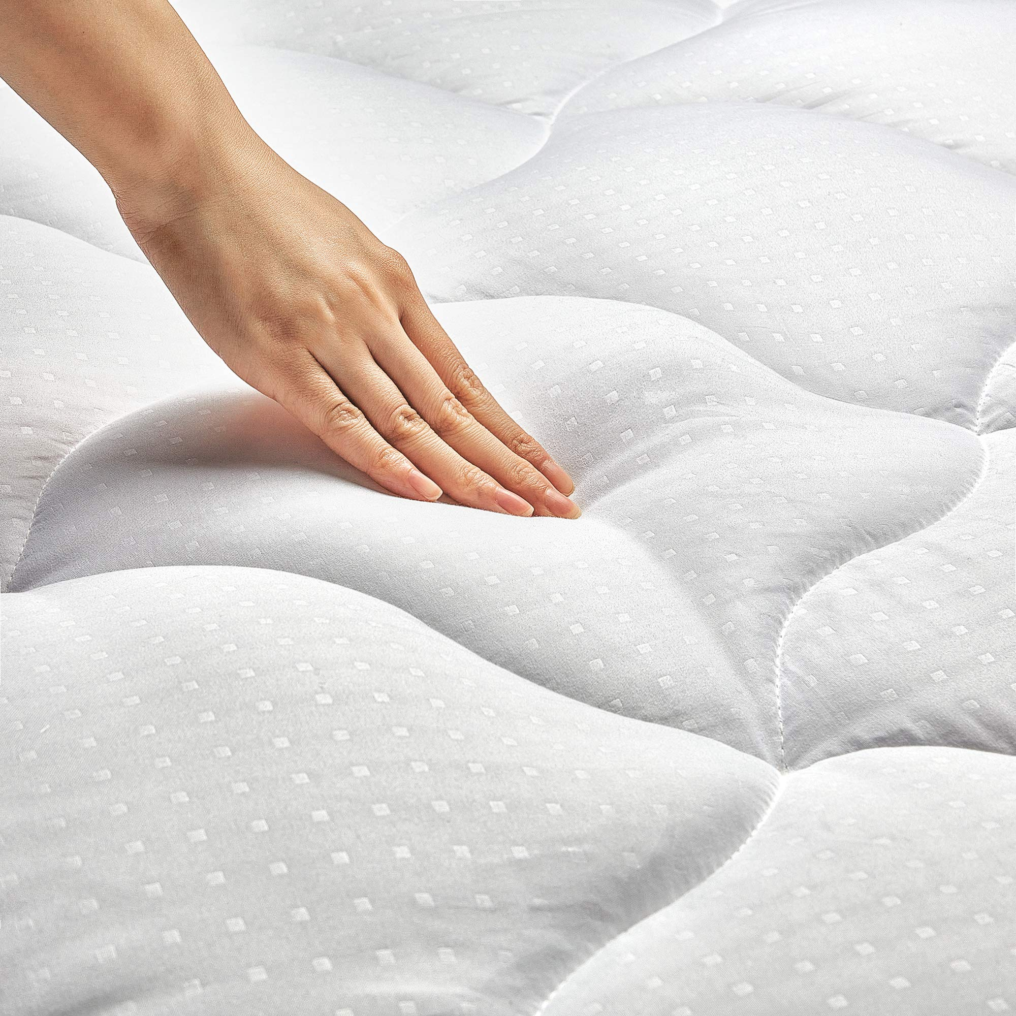 King Size Mattress Pad Cover Quilted Fitted Mattress Protector Cotton Pillow Top