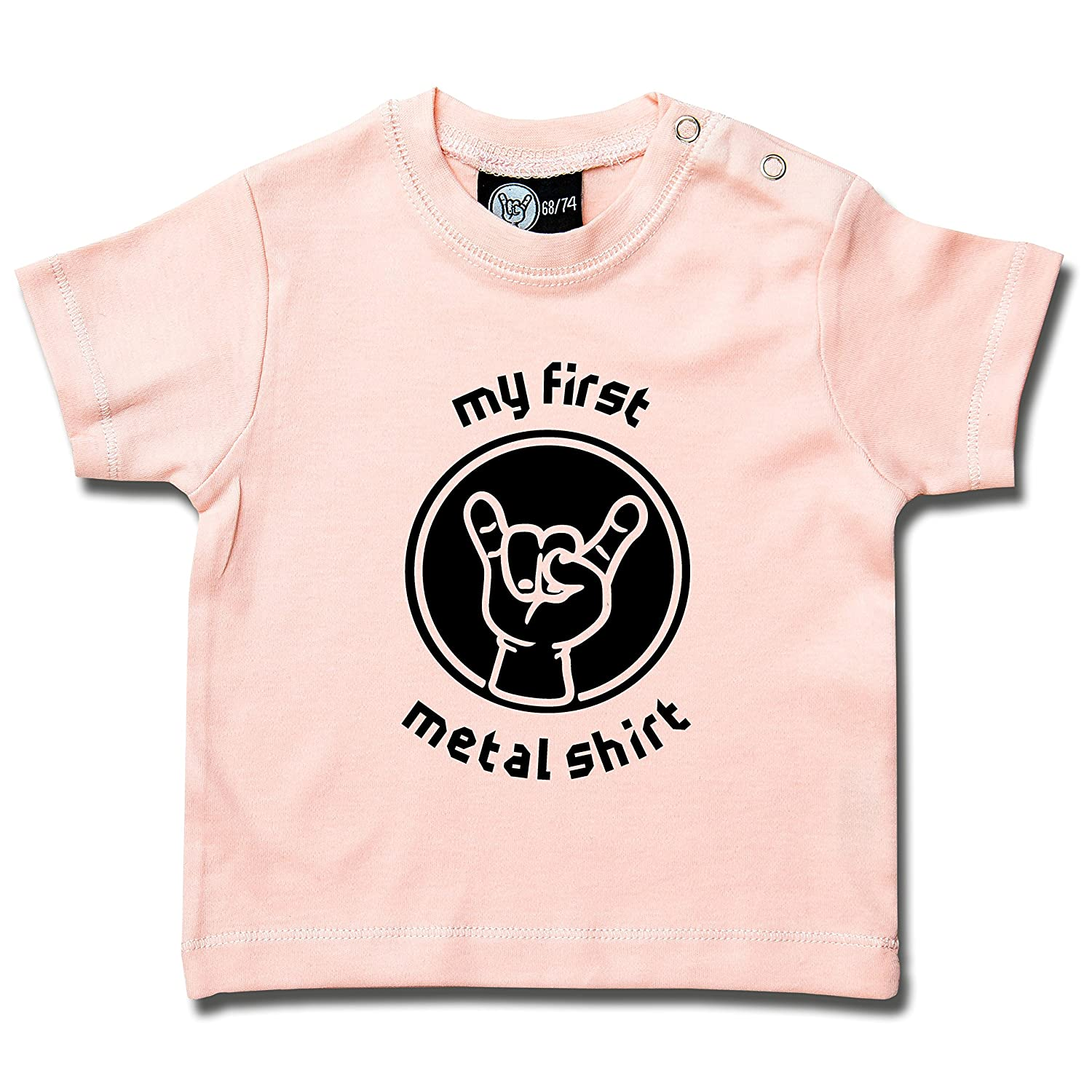 my first metal shirt: Baby T-Shirt Metal-Kids 255-16-8