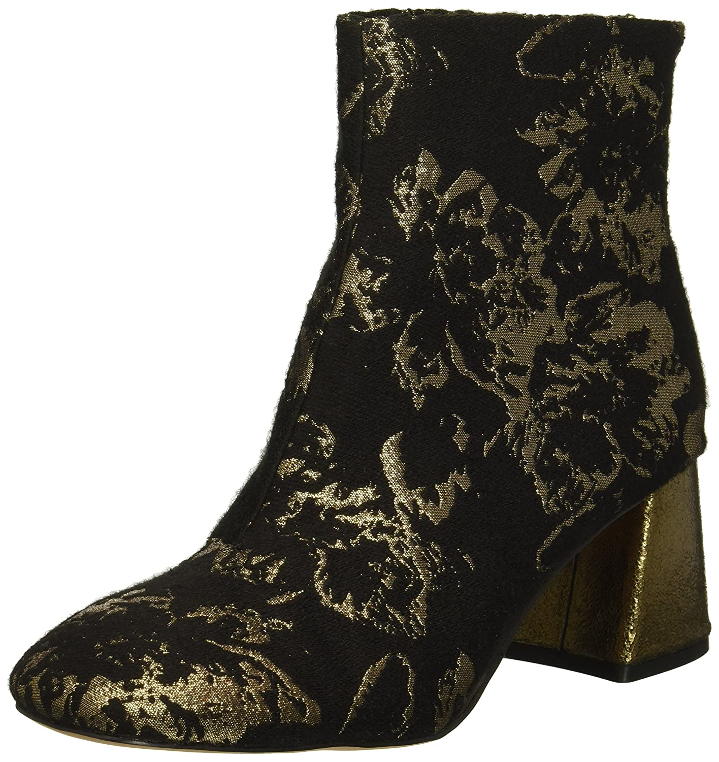 Nanette Lepore Women's Rose Fashion Boot B076DVGJCM 9 B(M) US|Black/Bronze