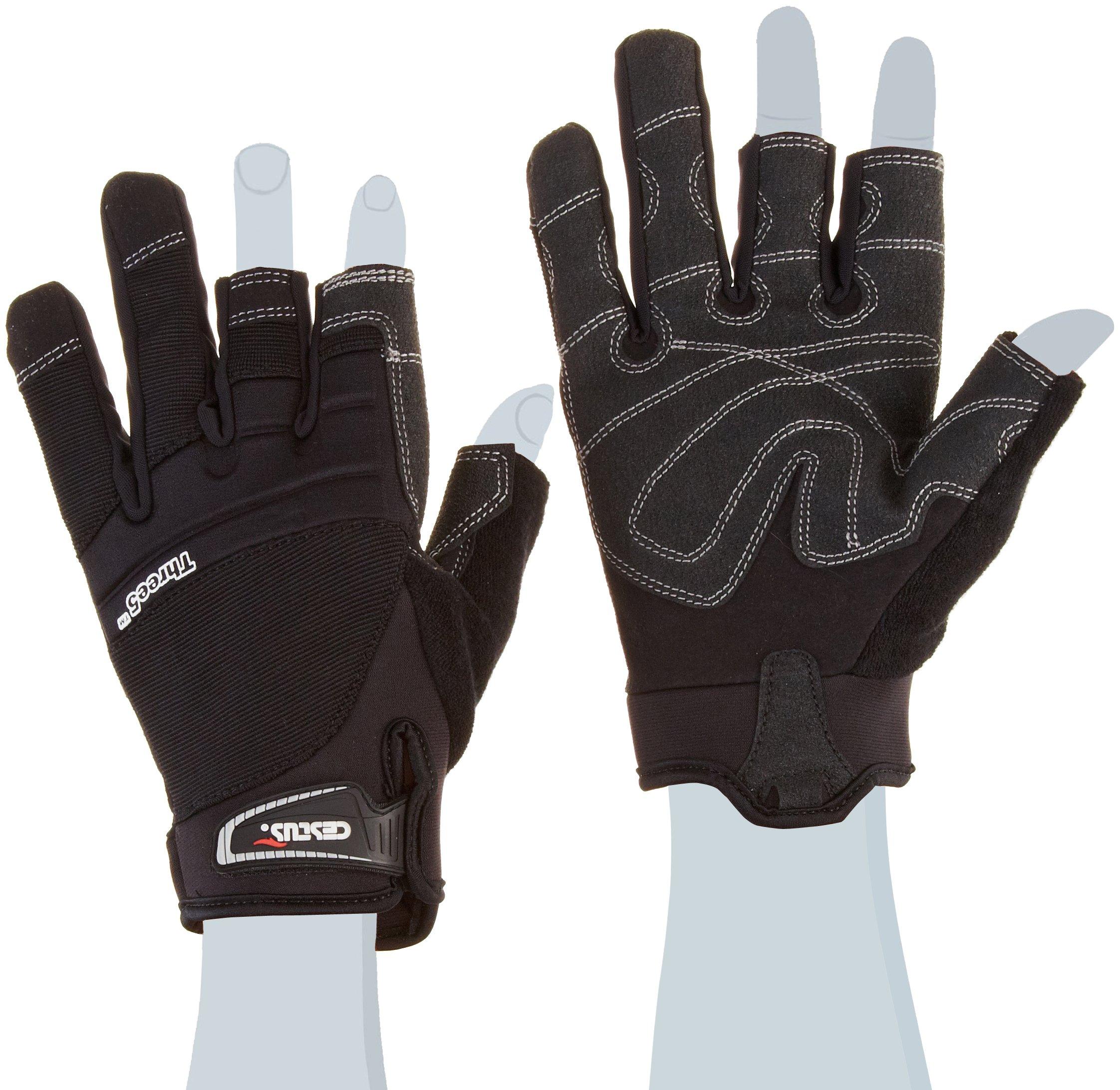 Cestus Trade Series Three5 Framing Glove, Work, Cut Resistant, Large, Black (Pack of 1 Pair)