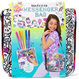Just My Style Color Your Own Unicorn Messenger Bag by Horizon Group Usa,Embellish Your Unicorn Themed Holographic Purse…