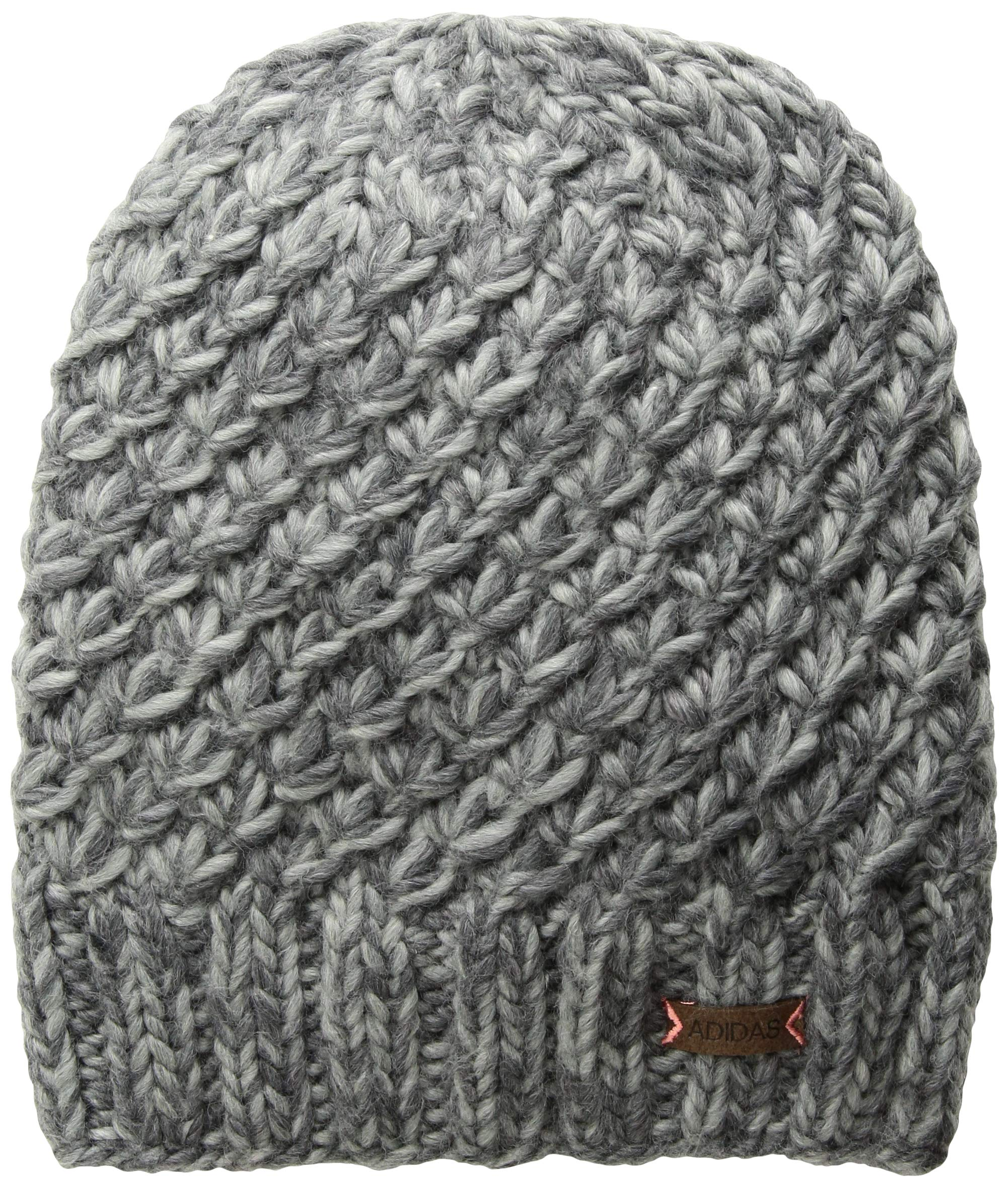adidas Women's Whittier Beanie, Deepest/Space Grey Marl/Tactile Rose, One Size