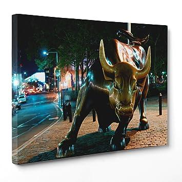 Bild auf Leinwand Canvas – Gerahmt – fertig zum Aufhängen – Stier ...