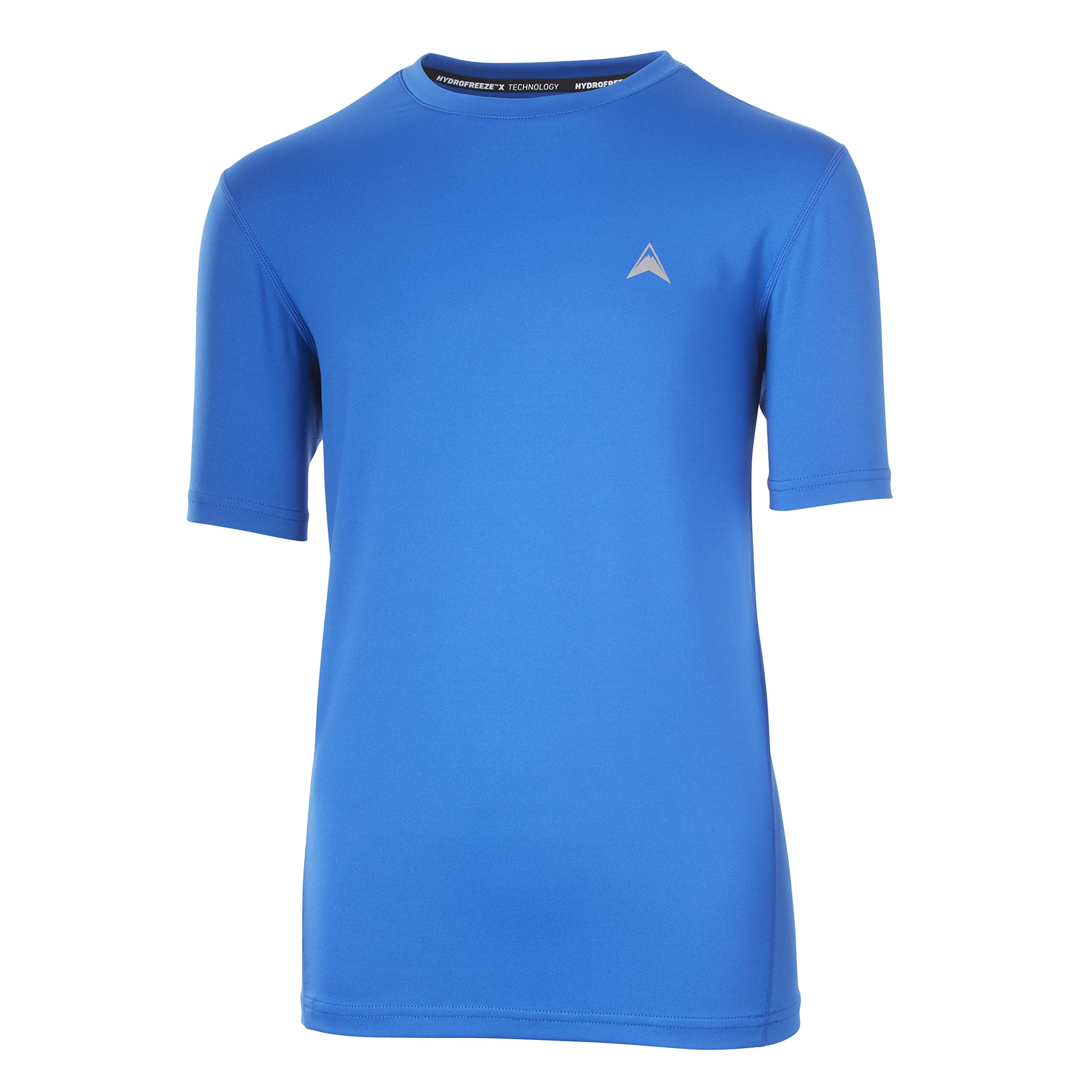 Arctic Cool Boys' Solid Crew Neck Instant Cooling Shirt wth UPF 50+ Sun Protection, Polar Blue, M