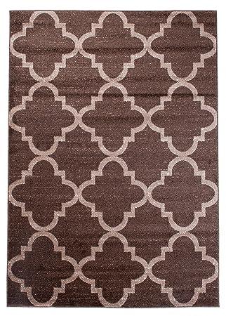 Designer Teppich Für Ihre Wohnzimmer Schlafzimmer Esszimmer   Braun Creme    120 X 170 Cm