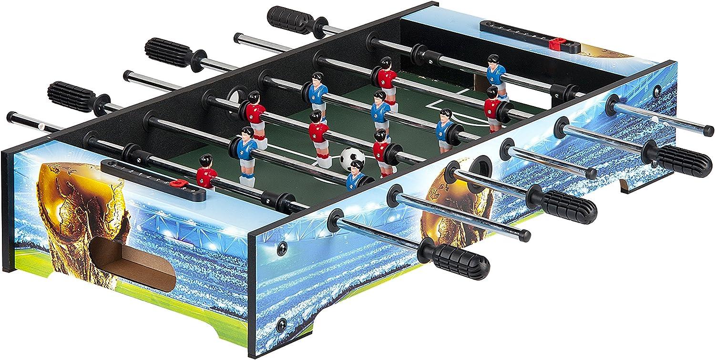 Leomark Futbolín de Mesa futbolines Brasil dimensiones: 81 x 41 x ...