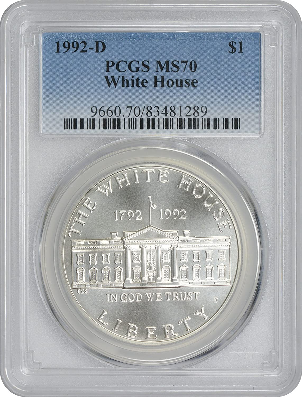 1992-W PCGS PR69DCAM White House Commemorative Dollar Freedom Label