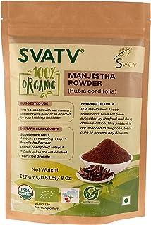 SVATV Manjishtha Powder (Rubia cordifolia) 1/2 LB, 08 oz, 227g