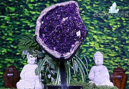 Amazon com: Cosmic Cuts Uruguayan Amethyst Geode 27 00