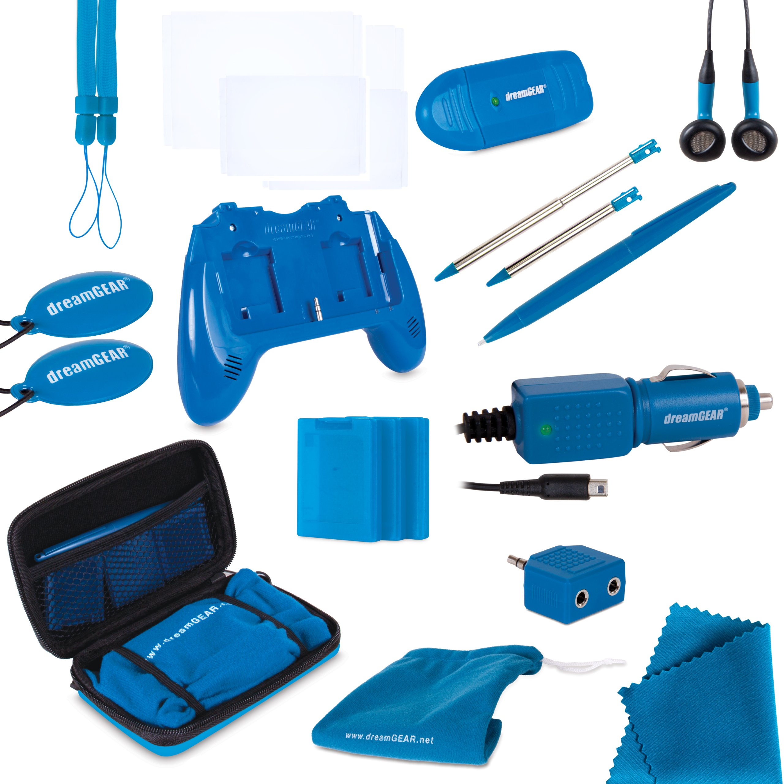 dreamGEAR Nintendo 3DS 20-in-1 Essentials Kit (blue) by dreamGEAR (Image #1)