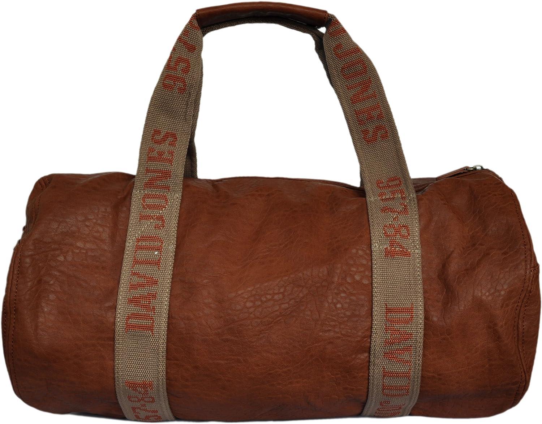 David Jones - Bolsa de viaje marrón coñac: Amazon.es: Ropa y accesorios