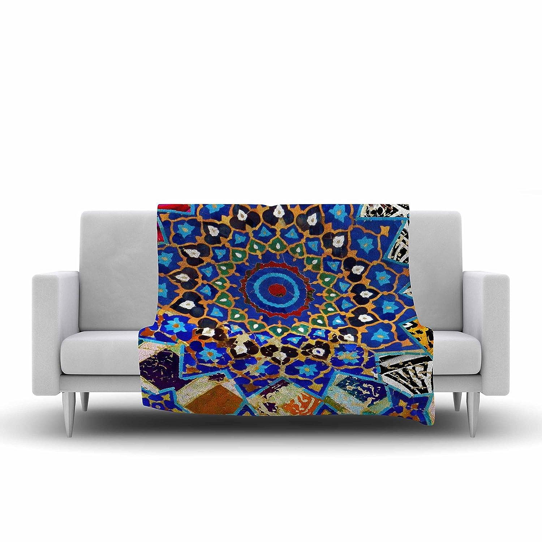 40 by 30-Inch Kess InHouse S 40 X 30 Seema Z Ethnic Explosion Blue Arabesque Fleece Throw Blanket