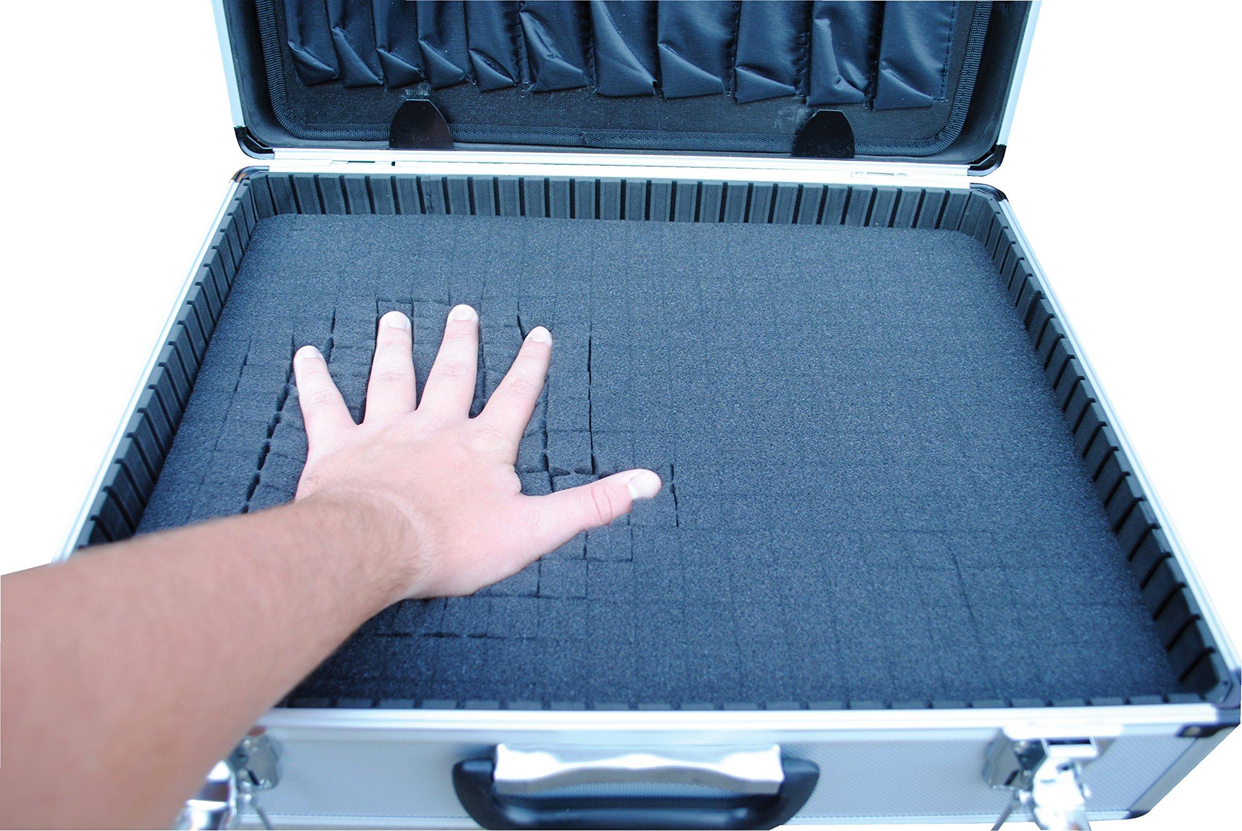 Vestil CASE-1814-FM Aluminum Tool Case - Foam Insert, 14'' Length X 18'' Width X 6'' Height, 6 lbs. by Vestil (Image #3)