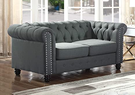 Fine Best Master Furniture Ys001 Venice Upholstered Loveseat Charcoal Customarchery Wood Chair Design Ideas Customarcherynet