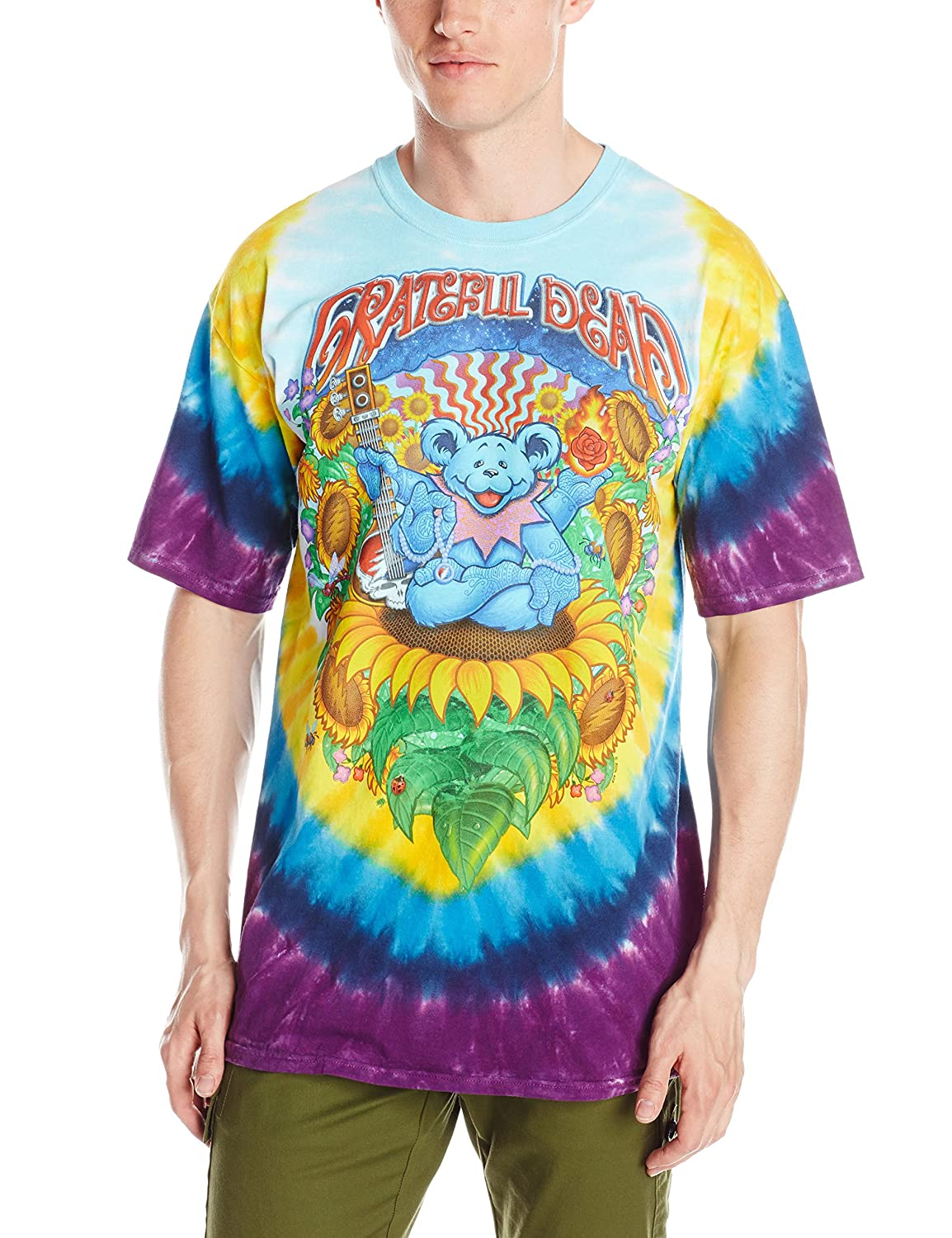 Liquid Blue Men's Grateful Dead Guru Bear T-Shirt Liquid Blue Young Men's 11515-Multi-X-Large