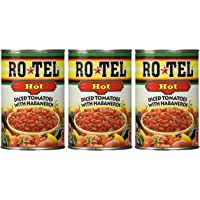Ro-Tel HOT Diced Tomatoes with Habaneros 10 oz ( 3 Pack)