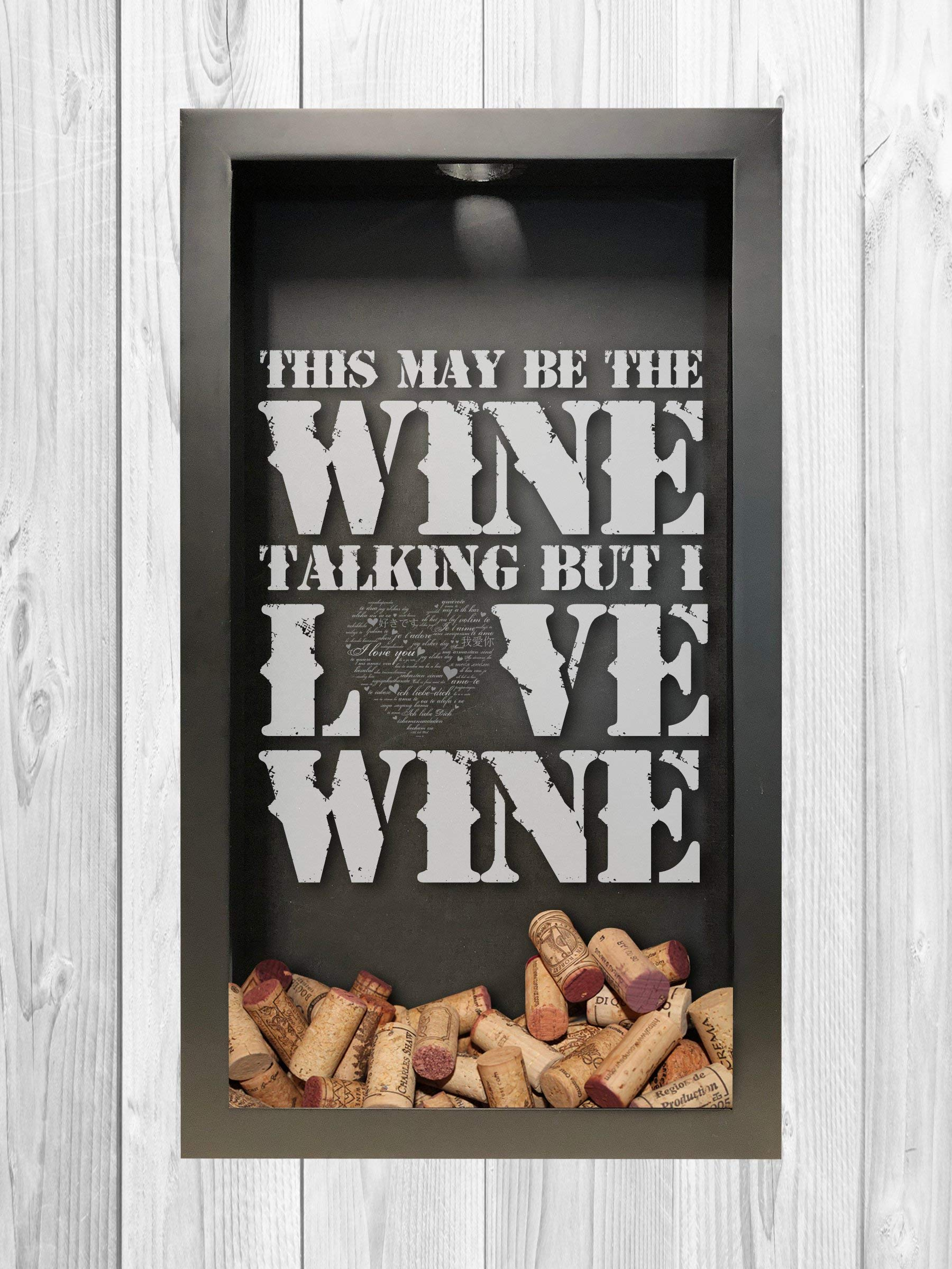 Wine Talking | Wine Cork Shadow Box | Wine Lover Gift | Wine Cork Shadow Box