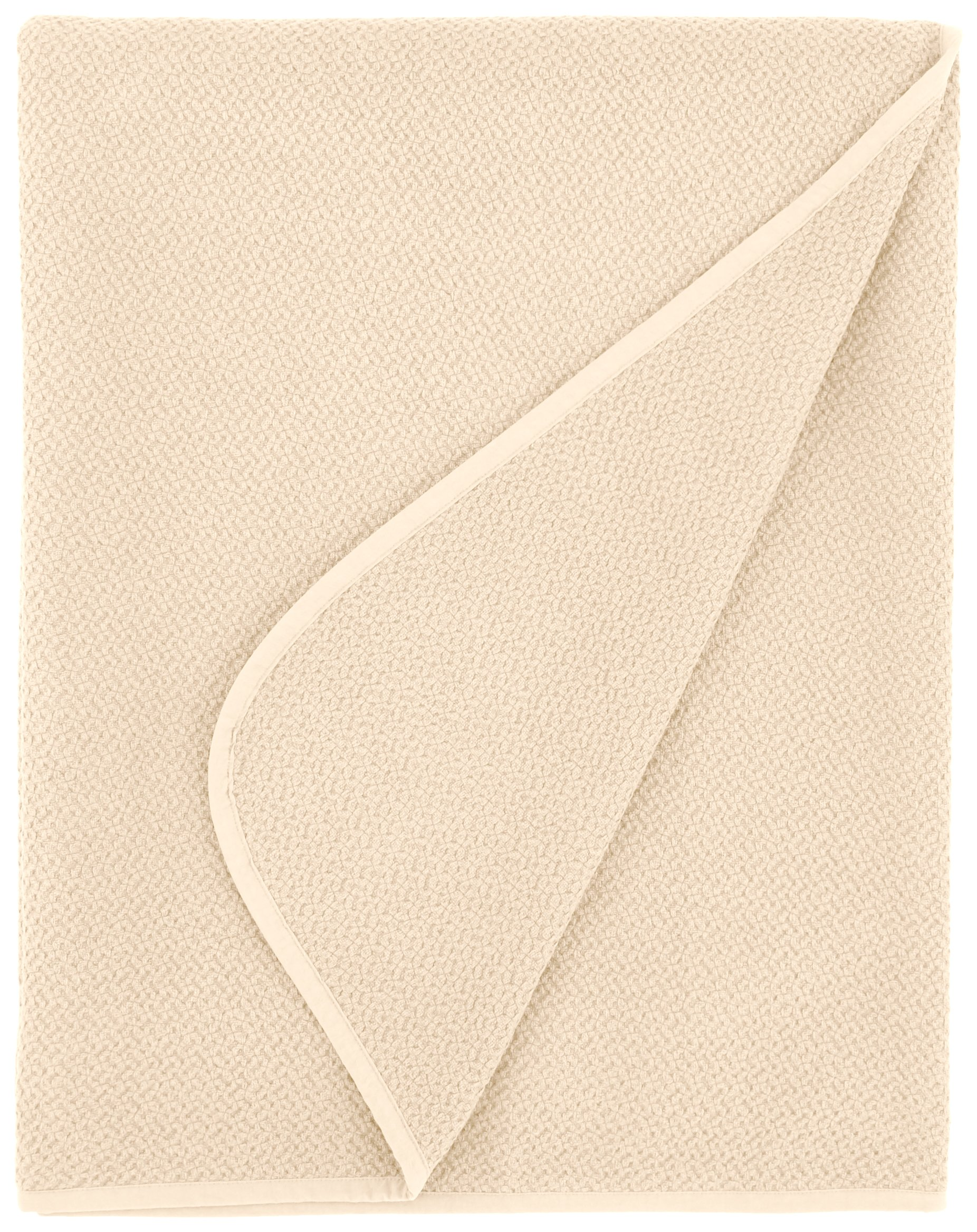 Coyuchi Honeycomb Organic Blanket, Full/Queen, Ivory