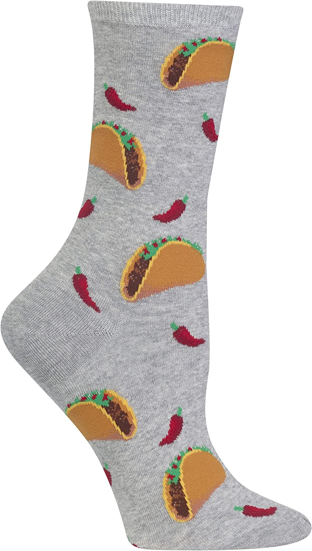Hot Sox Womens Taco Crew Socks