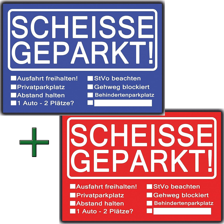 Scheisse Geparkt Notizbock A7 verschiedene Farben 50 Blatt Falschparker