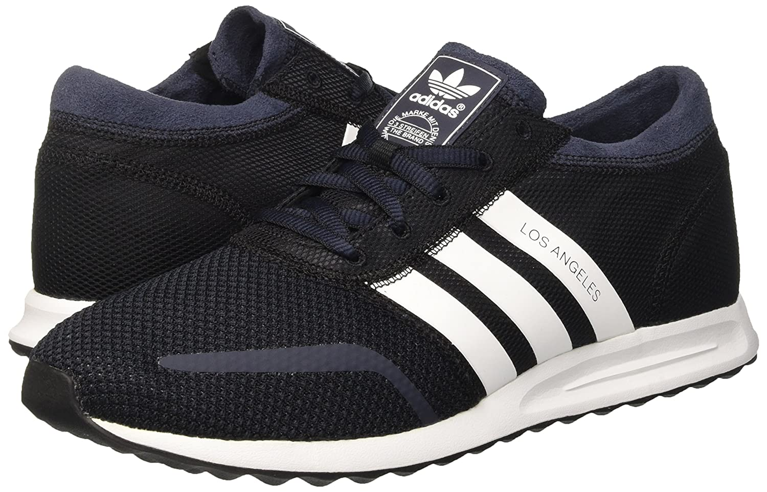 best sneakers 3fbe6 79e3d adidas Originals Mens Los Angeles Black, White and Blue Mesh Sneakers - 7  UK Buy Online at Low Prices in India - Amazon.in