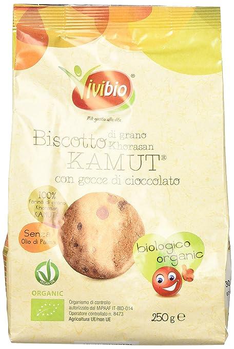 3 opinioni per Vivibio Biscotto di Grano Khorasan Kamut con Gocce di Cioccolato- 250 gr