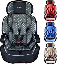 1-12 years group 0//1//2//3 I 5-point harness and 3-point harness I cover removable XOMAX 916 Child car seat with 360/° rotation /& ISOFIX I growing with your child I 0-36 kg washable I ECE R44//04