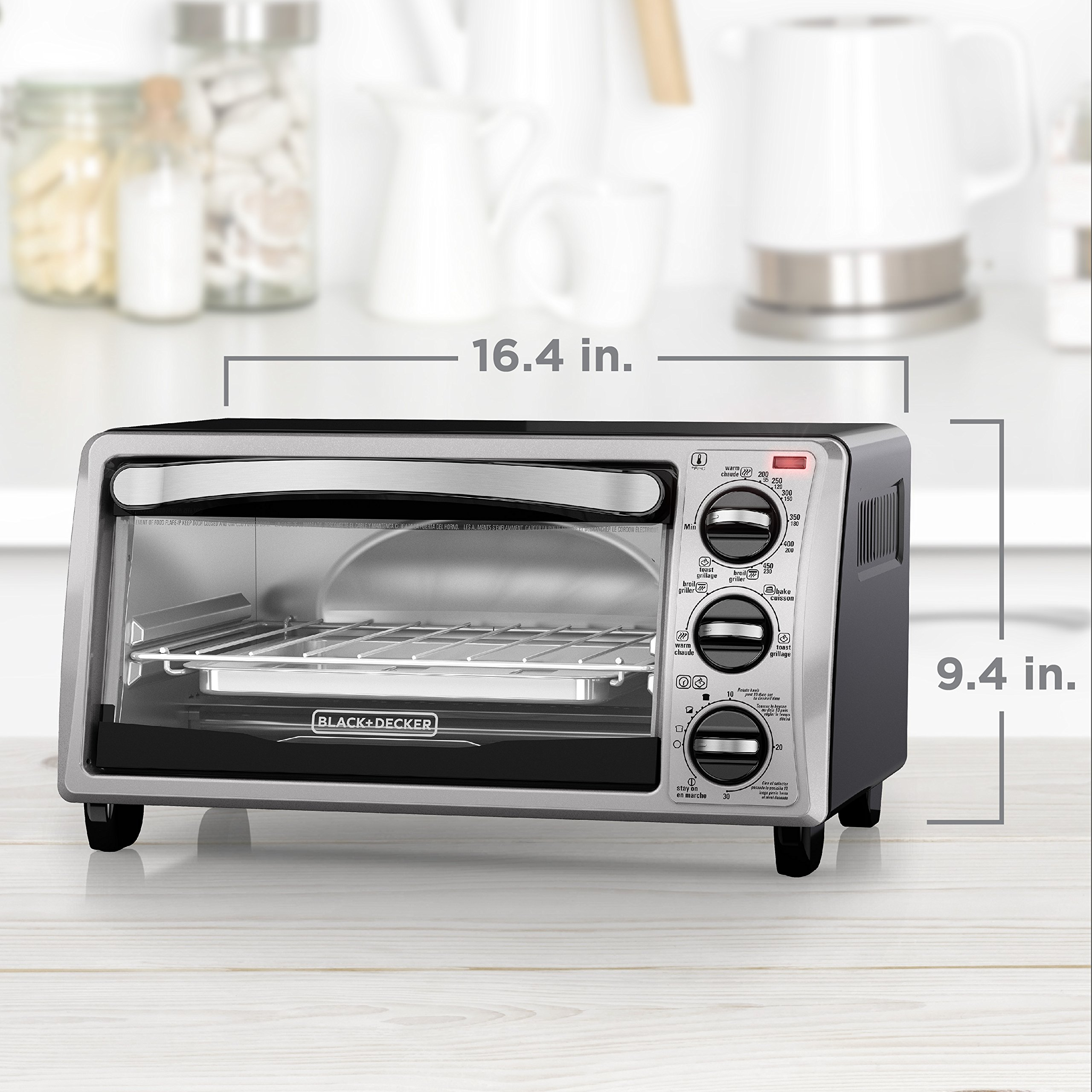 BLACK+DECKER TO1313SBD Decker To1313Sbd 4Slice Toaster Oven, Black by BLACK+DECKER (Image #7)