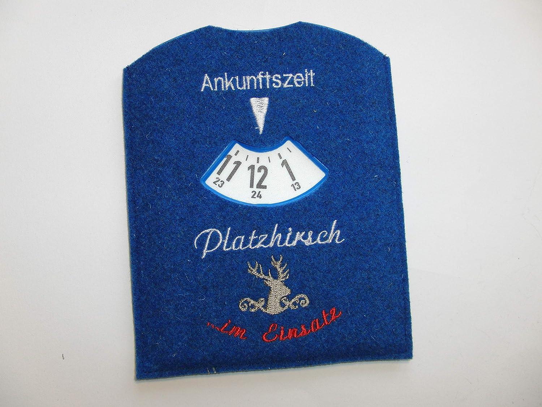 """Parkscheibe fü r Mä nner """" Platzhirsch im Einsatz"""""""
