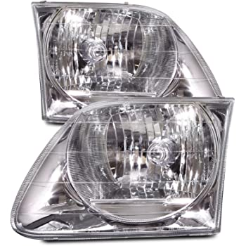 Headlights Depot Replacement for F150 F250/Expedition Lightning Model Headlights Driver/Passenger Pair New