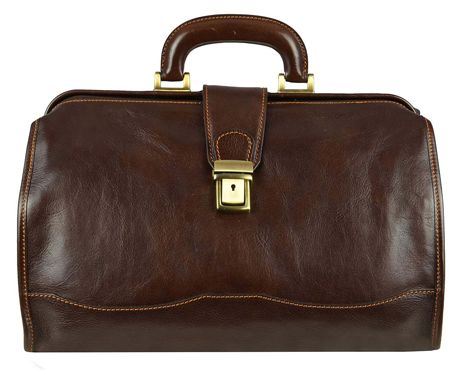 Sac Docteur en cuir, Sac Medical en cuir style vintage Marron - Temps résistance 1172001 Sac Medical en cuir style vintage Marron - Temps résistance 1172001