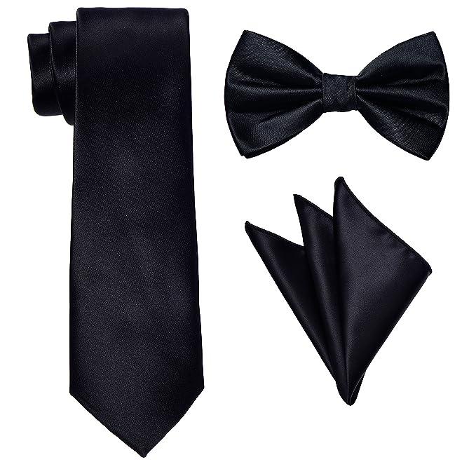 Amazon.com: Corbata para hombre, cuello, pajarita y pañuelo ...
