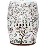 Safavieh Castle Garden's Collection Glazed Ceramic Blooming Tree Garden Stool