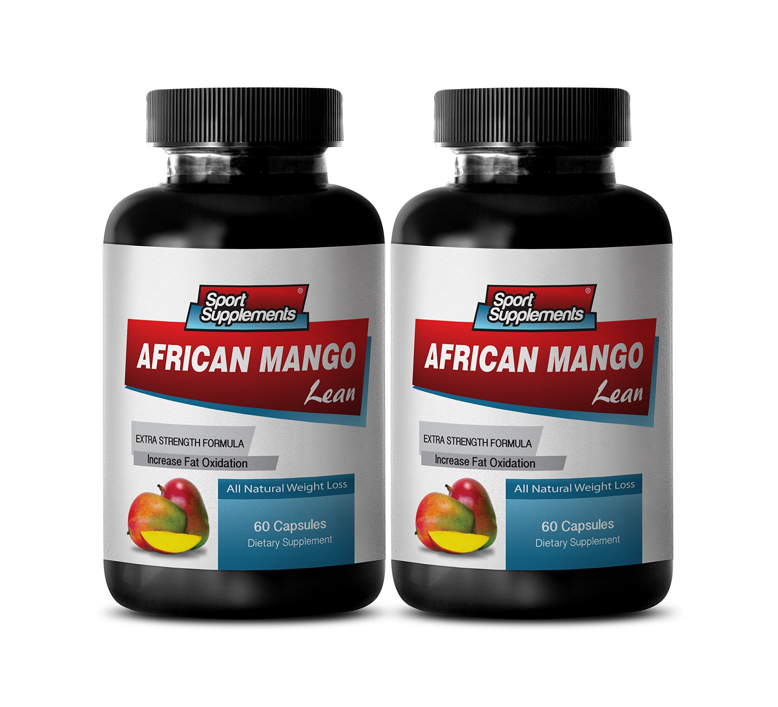 fat burner and metabolism booster - AFRICAN MANGO 1200 mg - ALL NATURAL WEIGHT LOSS DIETARY SUPPLEMENT - african mango extract pure - 2 Bottles (120 Capsules)