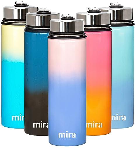 Botella de Agua de 650 ml de Acero Inoxidable con Cierre al ...