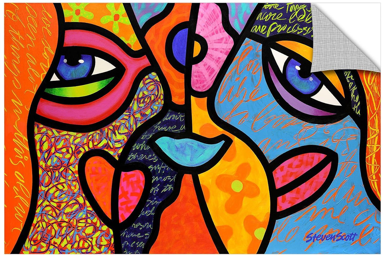 16 by 24-Inch Steven Scotts Eye To Eye Art Appealz Removable Graphic Wall Art