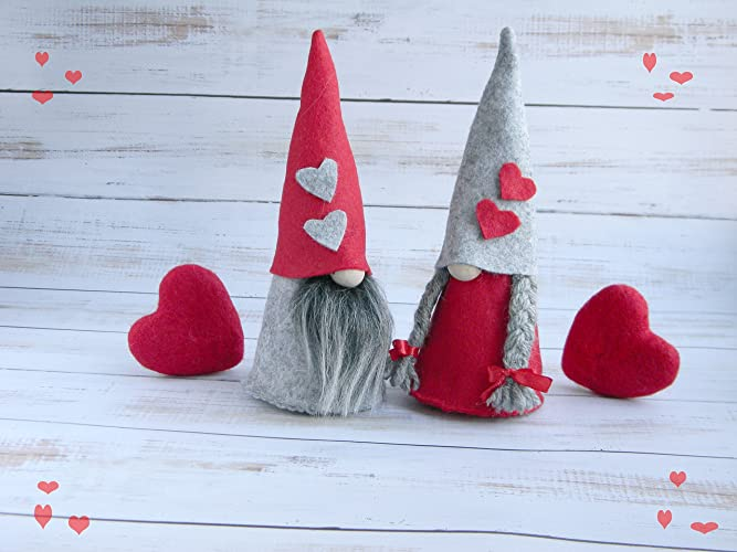 Amazon Com Felt Nisse Nordic Gnome Valentine Gnome House Tomte