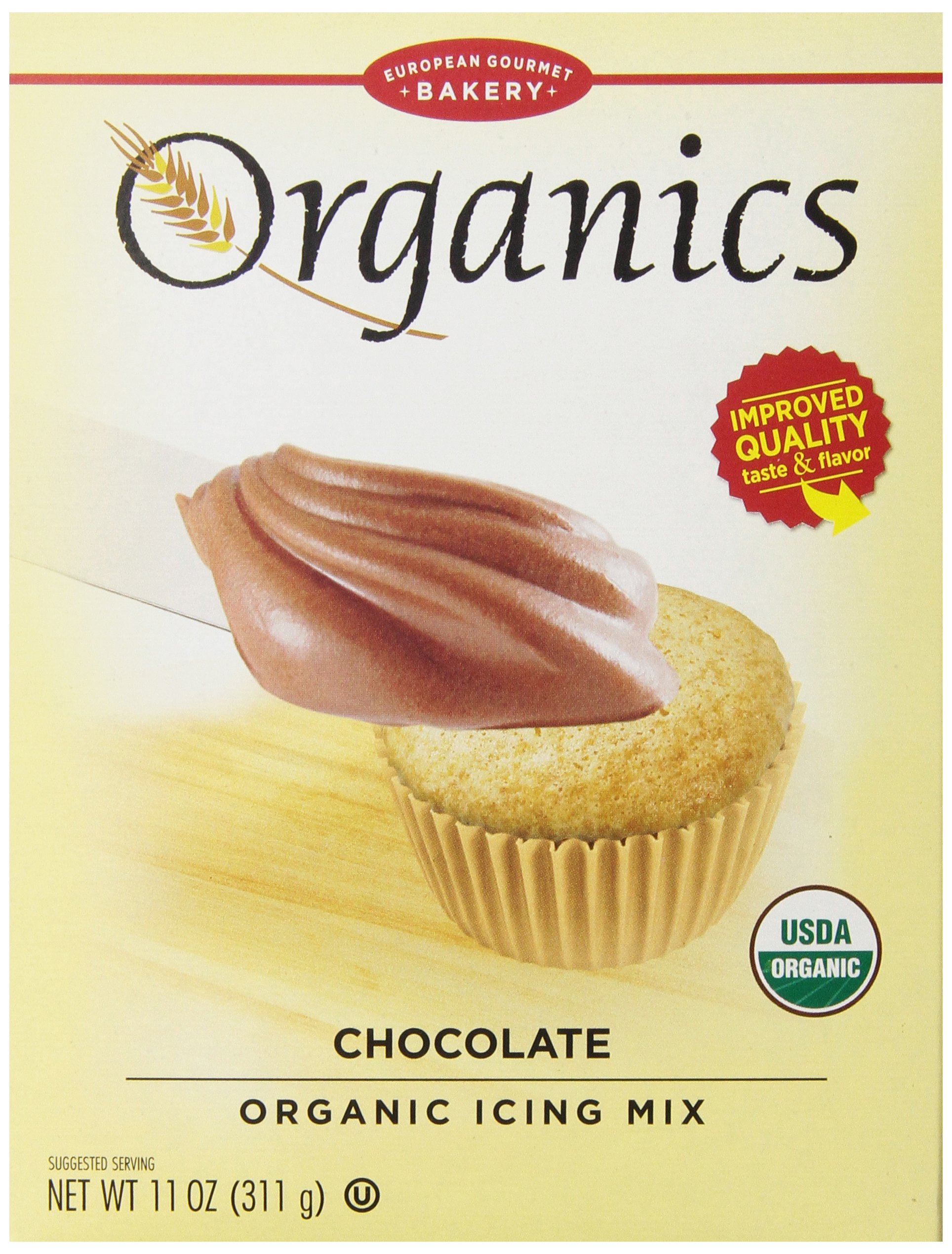 Dr. Oetker Organic Chocolte Icing Mix, 11 oz