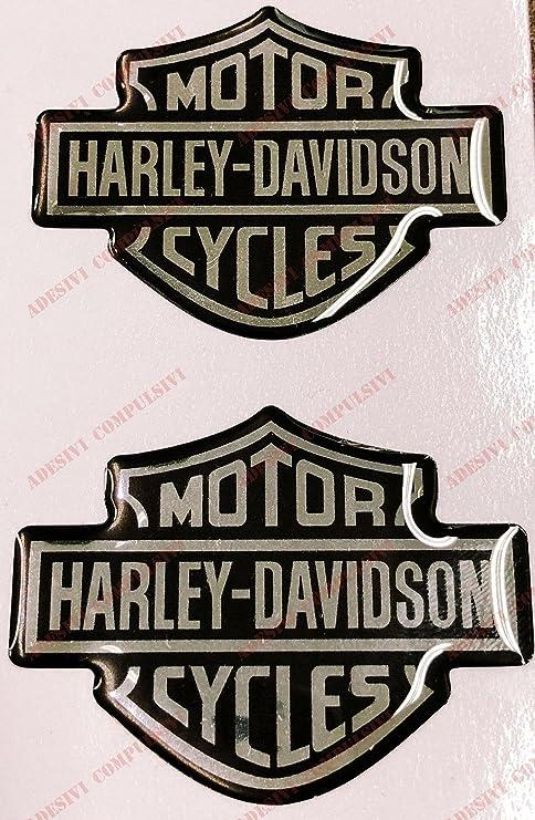 Adesivi Compulsivi - Adhesivos resinados con la insignia de Harley Davidson con efecto 3D Para depósito