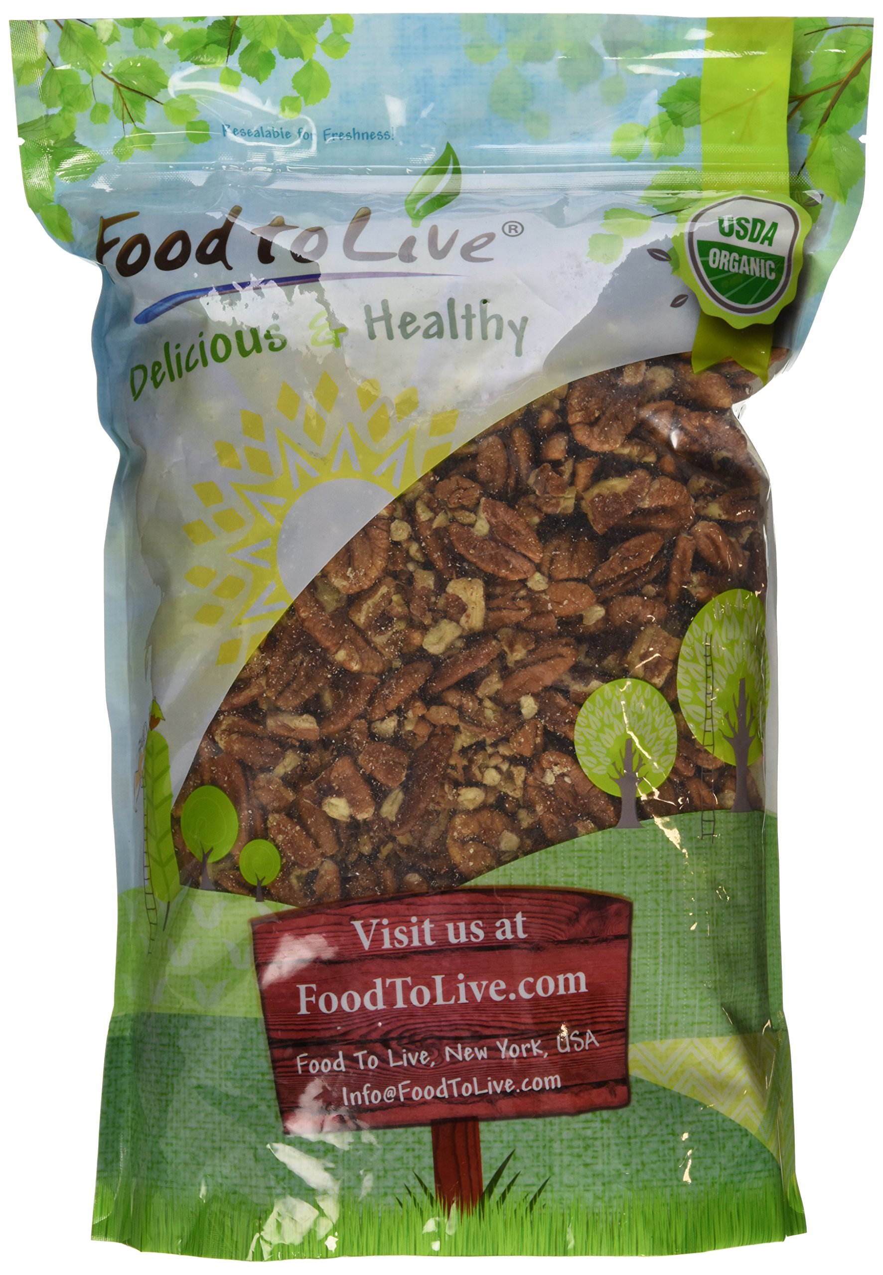 Food to Live Organic Pecans (Raw, No Shell, Kosher) (3 Pounds) by Food to Live  (Image #2)