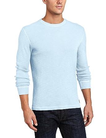 a8fa007970 Lucky Brand Men s Slub Thermal in Dream Blue at Amazon Men s ...