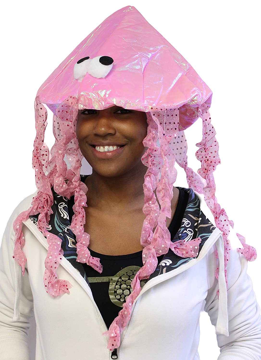 Costume Accessory -Iridescent Novelty Jellyfish Hat (One size fits most) Jacobson Hat Company P0-MRT1-UQYW