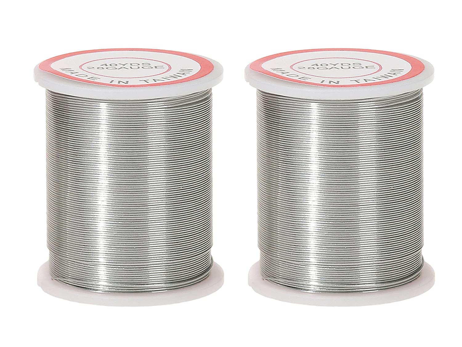 Amazon.com: Darice 28-Gauge Beading Wire, 40-Yard, Silver
