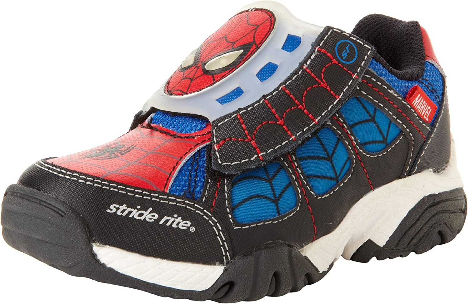 Stride Rite Toddler Kid/'s Made2Play Sneaker Boot Red Blue Spiderman