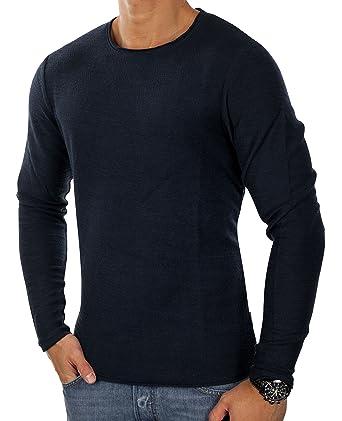 68c275e93eed7a JACK   JONES jjorMEL Herren Knit Strickpullover Sweatshirt Muster ...