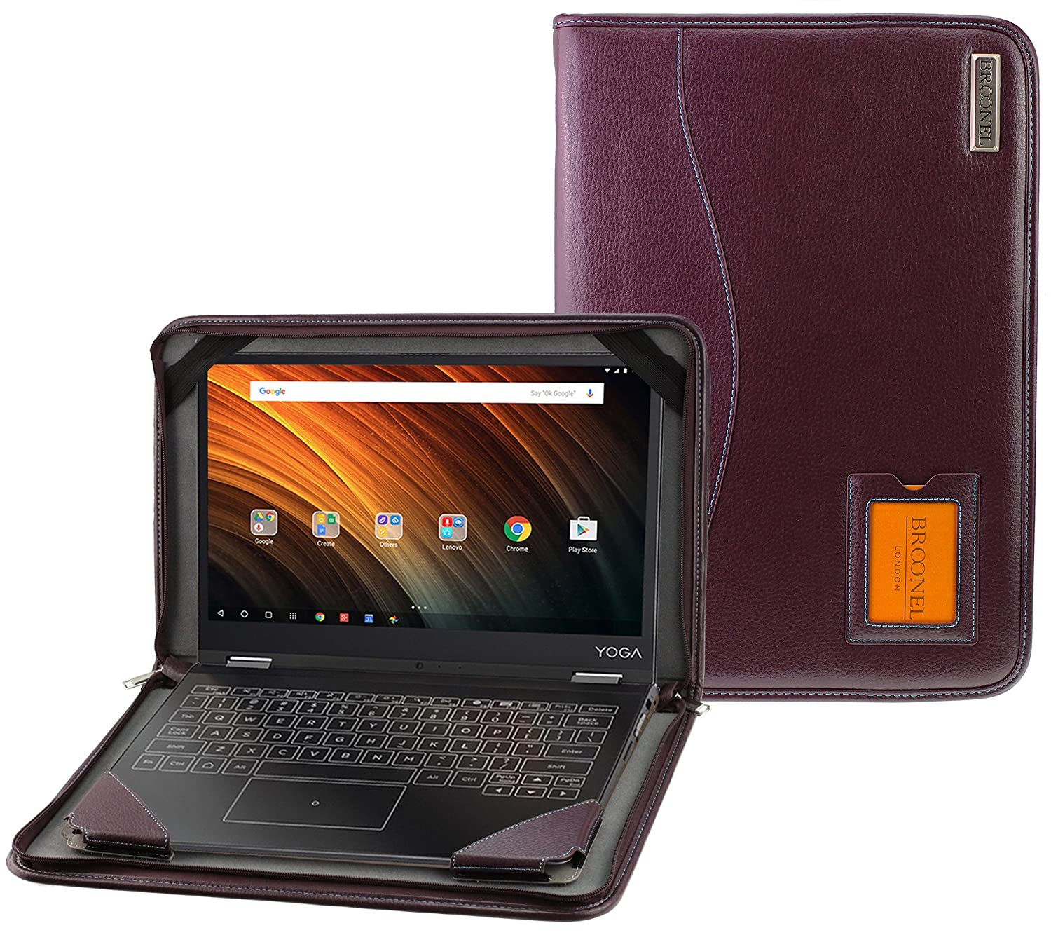 Navitech - Funda de Piel para Notebooks Morado Purple ...