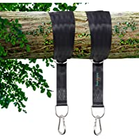Hold My Swing Tree Hanging Straps Kit - Easy to Install Heavy Duty Holds 1500 lbs with Stainless Steel Carabiners for Tree Swing & Hammocks