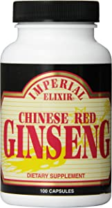 Imperial Elixir Chinese Red Ginseng, 100 Capsules